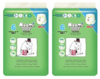 Muumi Baby ผ้าอ้อมเด็กสำเร็จรูป ชนิดกางเกง ไซส์ L (12-20 kg.) บรรจุ 36 ชิ้น 2 ห่อ