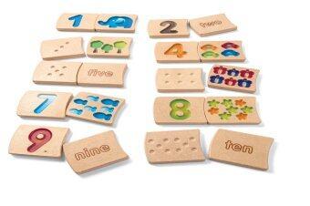 PlanToys ของเล่นไม้ NUMBER 1-10 (GRADIENT)
