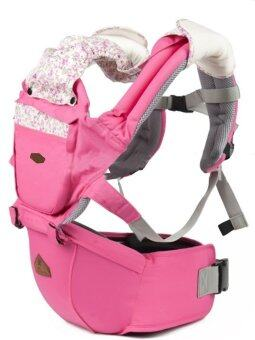Aiebao เป้อุ้มเด็ก ที่นั่งคาดเอว hipseat+carrier รุ่น Fleur (Pink)