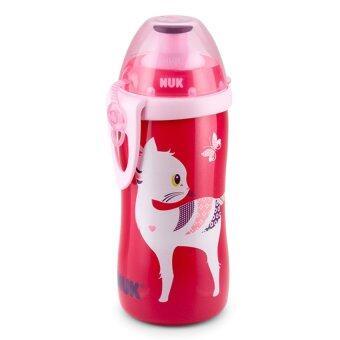 NUK ถ้วยหัดดื่ม แบบจุกดึง 300ml. (ลายแมวชมพู) (image 0)