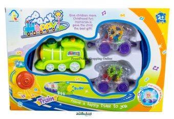 ProudNada Toys Fengbei Toys รถไฟขบวนเฟือง(สีเขียว) Funny Little Train Set NO.JD777-09
