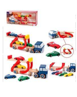 SK-Toys รถพ่วงบรรทุกรถ 4 คัน (Tchibo)