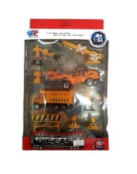Snook Toys โมเดลหุ่นพร้อมรถก่อสร้าง (สีเหลือง)