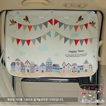 ม่านบังแดดในรถสำหรับเด็ก-Happy Town