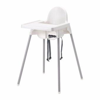 IKEA เก้าอี้ อีเกีย เก้าอี้สูง อันติลูป High Chair เก้าอี้ทานข้าวเด็กทรงสูง 0.6 - 4 ปี ขนาด 58*62*90 ซม. พร้อมเข็มขัดนิรภัย