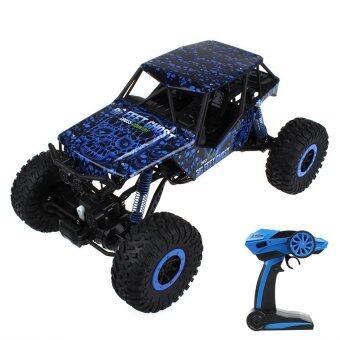 รถบังคับวิทยุ รถแข่งของเล่น รถไต่หิน 2.4ghz 4WD Rock Crawler 1:10 - (สีน้ำเงิน)