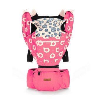 Aiebao เป้อุ้มเด็ก ที่นั่งคาดเอว hipseat+carrier รุ่น Premium Graffiti (Pink)