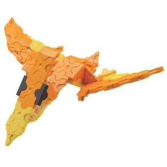 LaQ Dinosaur World Mini Pteranodon สำหรับเด็กผู้ชาย - สีส้ม