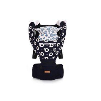 Aiebao เป้อุ้มเด็ก ที่นั่งคาดเอว hipseat+carrier รุ่น Premium Graffiti (N.Blue)