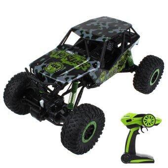 รถบังคับวิทยุ รถแข่งของเล่น รถไต่หิน 2.4ghz 4WD Rock Crawler 1:10 - (สีเขียว)