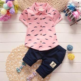 Fashion Pure Cotton Baby Boys Polo Shirts Clothing Set - intl