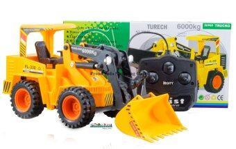 ProudNada Toys ของเล่นเด็กรถก่อสร้างบังคับสาย TRUCK SUPER DELUXE CRANE NO.6805S