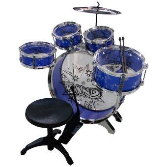 Films Toy Drum กลองชุด 5 ชิ้น และ เก้าอี้ สำหรับเด็ก (สีน้ำเงิน)