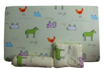 PalmandPond ที่นอนฟองน้ำ/หมอนหลุม/หมอนข้าง ลายวัว - สีเหลือง