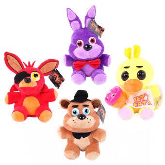 Kawaii Cute 25 cm Five Nights At Freddy's 4 FNAF Freddy Foxy Fazbea Life Size teddy Bear Fox Plush Toys Doll Free Shipping