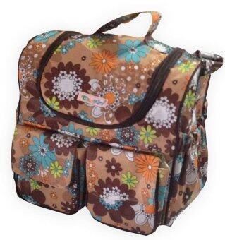 PalmandPond กระเป๋าคุณแม่ลูกอ่อนลายดอกไม้ (สีน้ำตาล)
