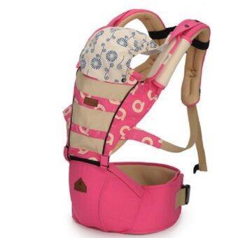 Aiebao เป้อุ้มเด็ก ที่นั่งคาดเอว hipseat+carrier รุ่น Mesh (Pink)