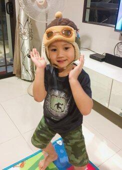 ThaiTrendy หมวกนักบิน สีน้ำตาล (image 4)