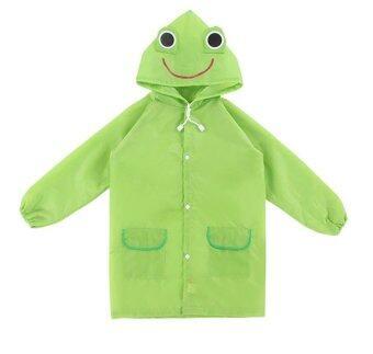T-Toys เสื้อกันฝนเด็ก ลายกบสีเขียว
