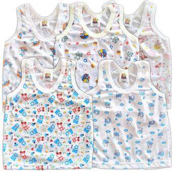 BABYKIDS95 ชุดเด็กอ่อน เสื้อกล้าม ผ้ายืด Size 3-6 เดือน CC-001 คละลาย 5 ตัว