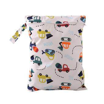Baby Diaper Bags Character Print Changing Wet Bag Baby Cloth Diapers