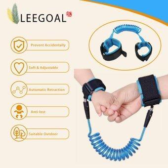 leegoal Kid Keeper Baby Walkers Wrestling Belt Infant Wrist Safety Harnesses For Children Elastic Handle Anti-lost Belt New Year Gift(Blue) - intl