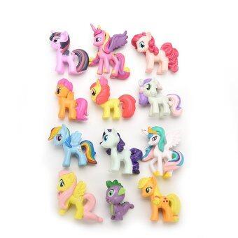 Jetting Buy Playset ตุ๊กตาสำหรับเด็กเล็กม้าของขวัญ 12ชิ้น (image 1)