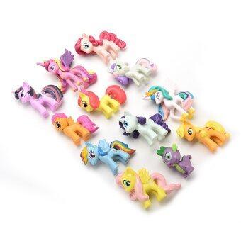 Jetting Buy Playset ตุ๊กตาสำหรับเด็กเล็กม้าของขวัญ 12ชิ้น (image 3)
