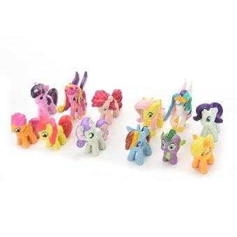 Jetting Buy Playset ตุ๊กตาสำหรับเด็กเล็กม้าของขวัญ 12ชิ้น (image 4)