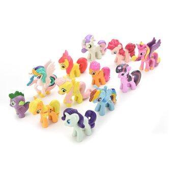 Jetting Buy Playset ตุ๊กตาสำหรับเด็กเล็กม้าของขวัญ 12ชิ้น (image 2)