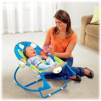 smartbabyandkid เปลโยก-สั่น ibaby Infant-to-toddler Rocker ลายกบสีฟ้า (image 1)