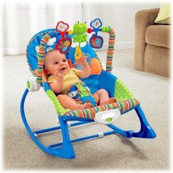 smartbabyandkid เปลโยก-สั่น ibaby Infant-to-toddler Rocker ลายกบสีฟ้า (image 2)