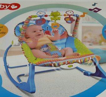 smartbabyandkid เปลโยก-สั่น ibaby Infant-to-toddler Rocker ลายกบสีฟ้า (image 4)