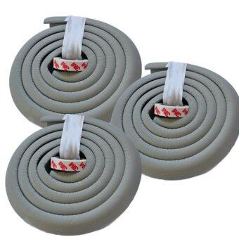 MoMoLand โฟมยางกันกระแทกสำหรับเด็ก ความยาว 2 เมตร Soft Edge Cushion Strip รุ่น FKT-3105-GREY (ชุดเชต 3 ม้วน) (image 0)