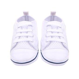 Eozy Kids shoes Baby Sneakers Prewalker Mesh Toddler Breathable First Walker Boys Girls Shoe (White) (image 1)