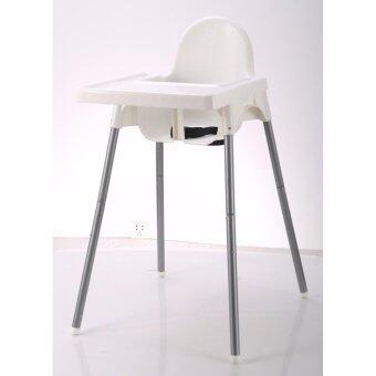 NIKKO Baby High Chair เก้าอี้หัดนั่งและทานข้าว สำหรับเด็ก สีขาว