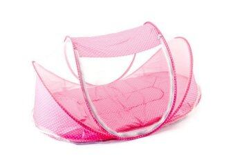 Happy Baby ที่นอนพกพาพร้อมมุ้งครอบ (Pink)