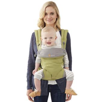ผลิตเด็กย้อนกลับ ergo-สี่สไตล์ 360 baby เด็กผ้าสำลีขนเครื่องมัลติฟังก์ชันส่วน (สีเขียว)