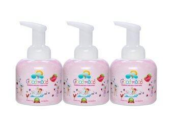 Good mood Shampoo and Body Foam Wash (Funny Strawberry) 250 ml. - Set 3 bottles