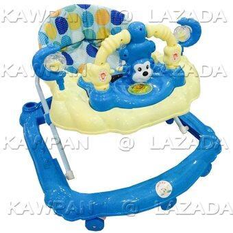 K.baby รถหัดเดินหน้า ปรับระดับได้พร้อมเสียงดนตรี หน้าลิง (สีฟ้า)