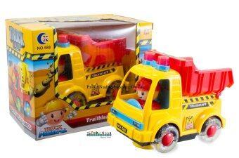 ProudNada Toys รถก่อสร้างใส่ถ่านล้อมีไฟ ชนถอย Truck City Builder NO.588A