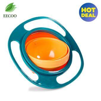 360 Degree Rotating Baby Food Eating Bowl Cute Toy Universal Kids Spill-Proof Feeding Tableware- green - intl