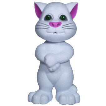 BKL TOY แมวทอมอัจฉริยะ พูดได้ เวอร์ชั่นภาษาไทย Talking Tom Cat (Thai) สีขาว 6079G-2