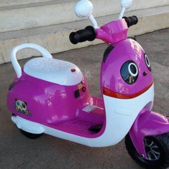 Baby Station รถแบตเตอร์รี่นั่งขับ แพนด้า สีขาวชมพู