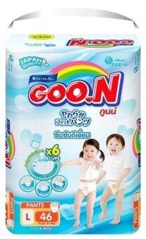 GOO.N กูนน์ กางเกงผ้าอ้อมเด็ก PANTS Size L 46 ชิ้น