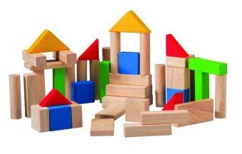 PlanToys ของเล่นไม้ 50 Blocks ชุดของเล่นไม้ 50 บล็อก