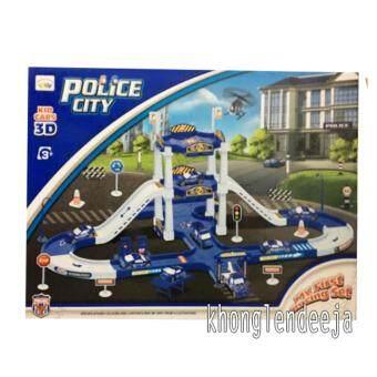 Khonglendee ชุดลานจอดรถตำรวจ POLICE CITY (58 pcs.) KID CARS 3D