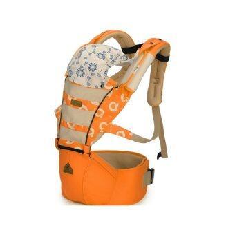 Aiebao เป้อุ้มเด็ก ที่นั่งคาดเอว hipseat+carrier รุ่น Mesh (Orange)