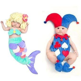BabyGaga ชุดแฟนซีเด็กทารกโจ๊กเกอร์+เงือกน้อย Joker & Little Mermaid Fancy Costume