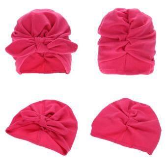 45ef51c4ac5a ที่ถูกที่สุด Baby Soft Cotton Knot Hat Rabbit Ears Stretchable Cap ...